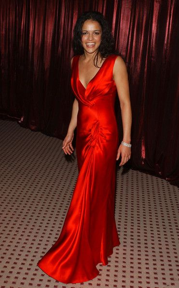 Michelle Rodriguez In Style Magazine Golden Globe Party Red Gowns Evening Dresses