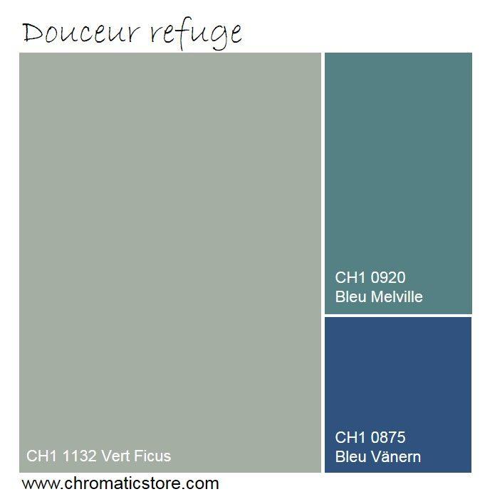 Cette palette en faux cama eu cr e une atmosph re douce et - Peinture vert amande douce ...