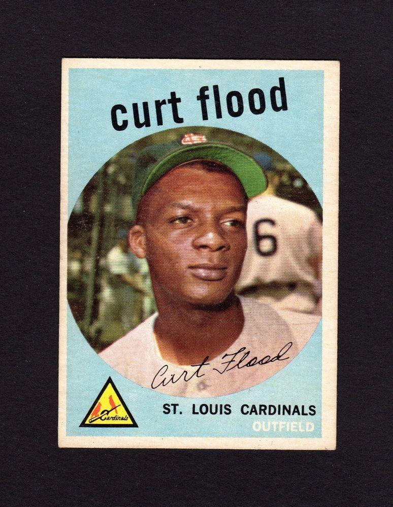 1959 Topps Curt Flood 353 Cardinals 2nd yr EXMINT