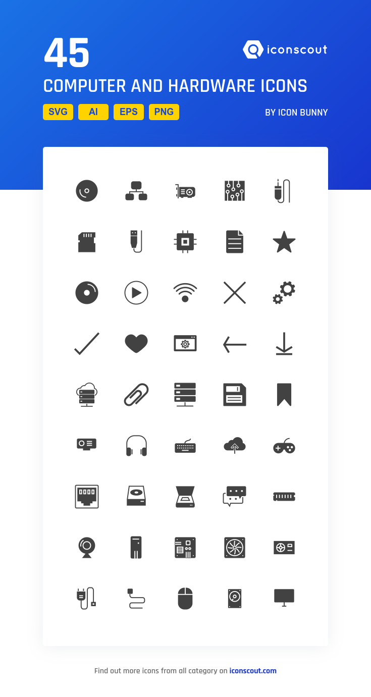 download computer and hardware icon pack available in svg png eps ai icon fonts icon pack icon icon font computer and hardware icon pack