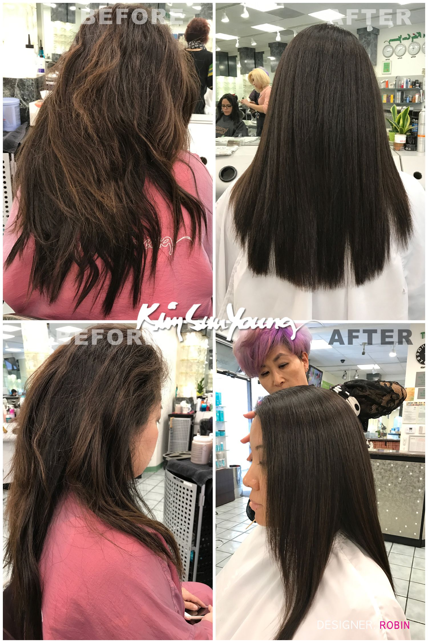 Magic Straight Perm By Robin At Ksy Kim Sun Young Beauty Salon Permed Hairstyles Hair Straightening Treatment Hair And Beauty Salon