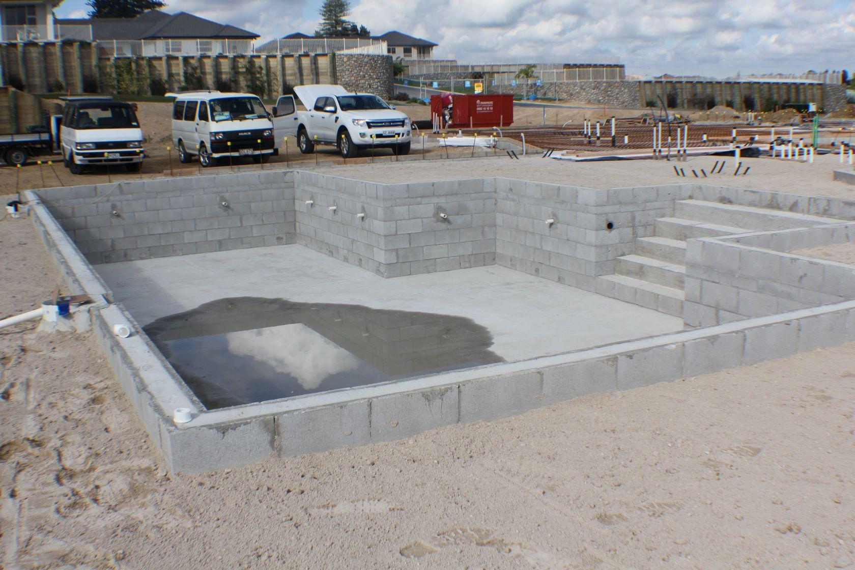 ... Beautiful Concrete Block Swimming Pool Plans #2: Diy Swimming Pool  Concrete Blocks ...