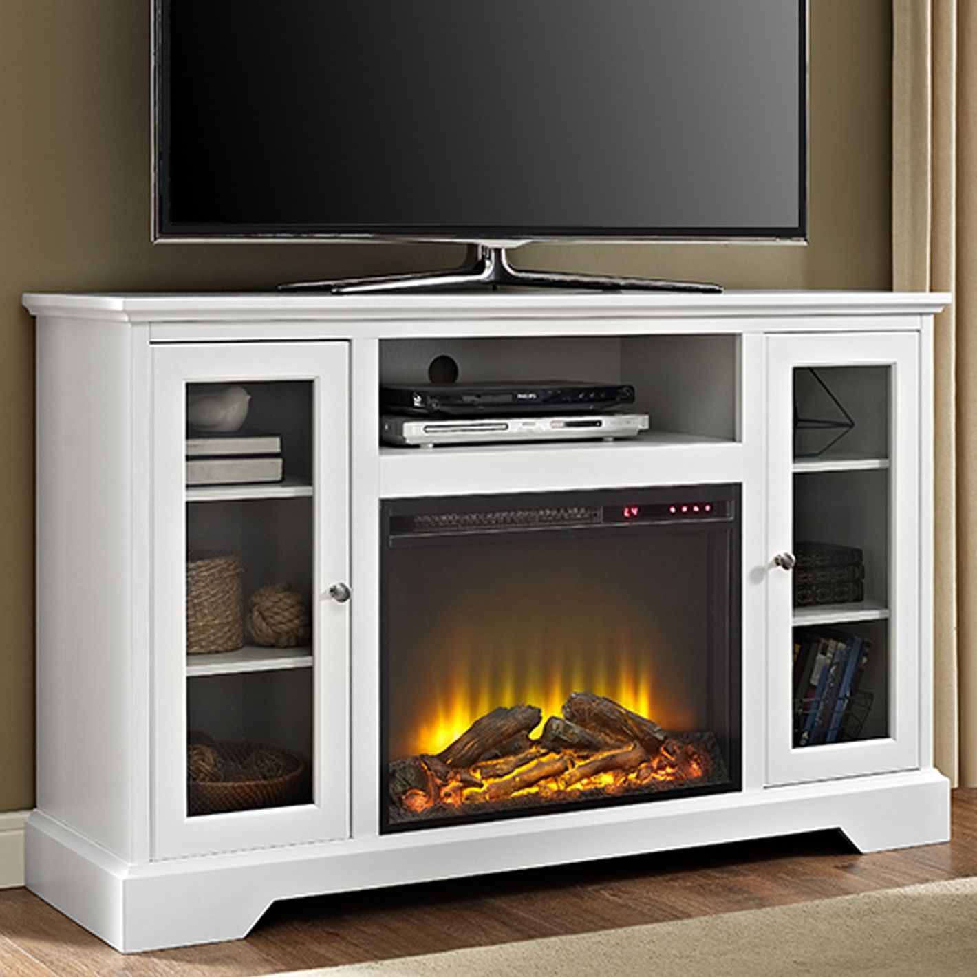 Heywood TV Stand with Electric Fireplace Fireplace tv