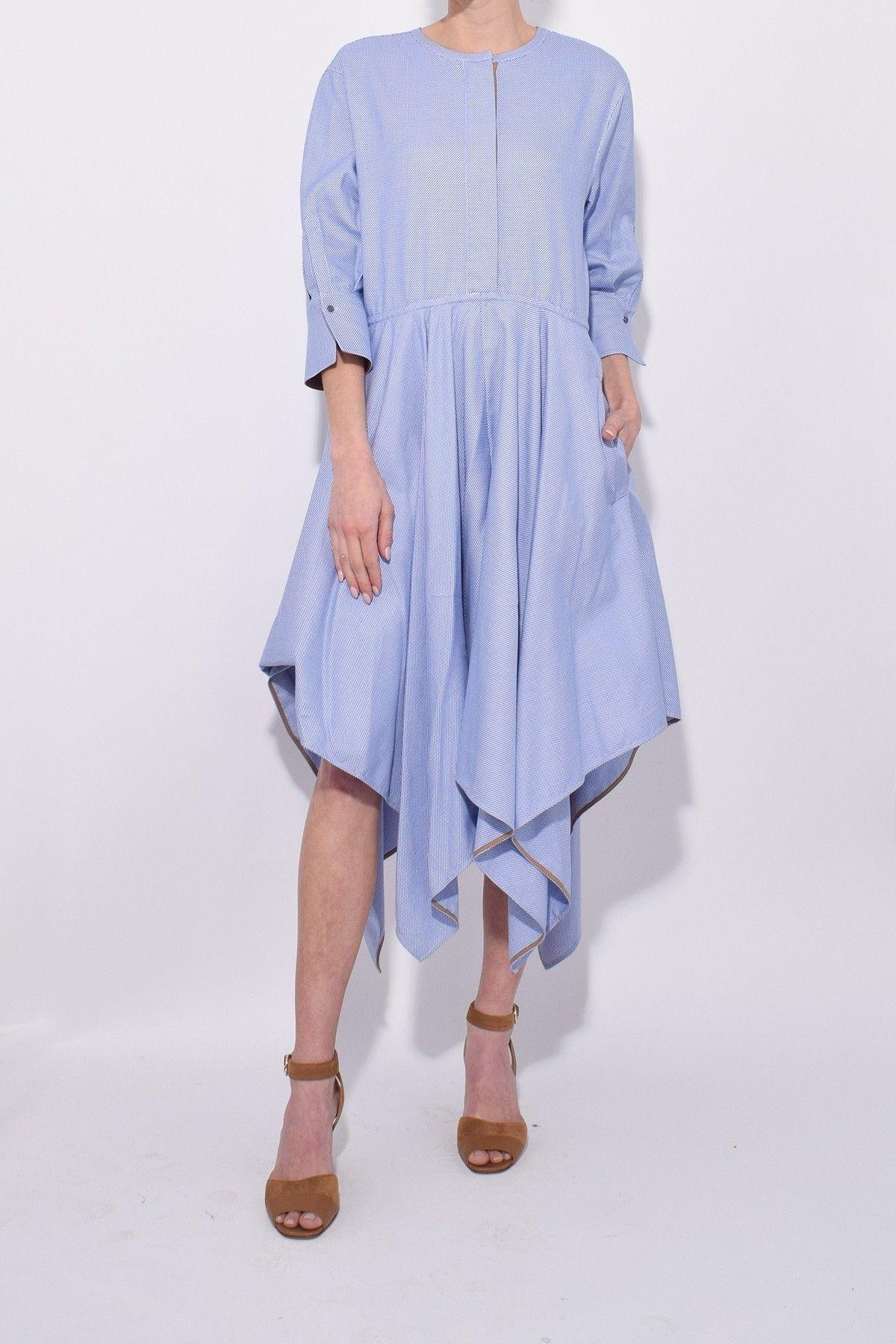 6301c8eeb9e Dorothee Schumacher Neo Shirtings Dress in Oxford Blue