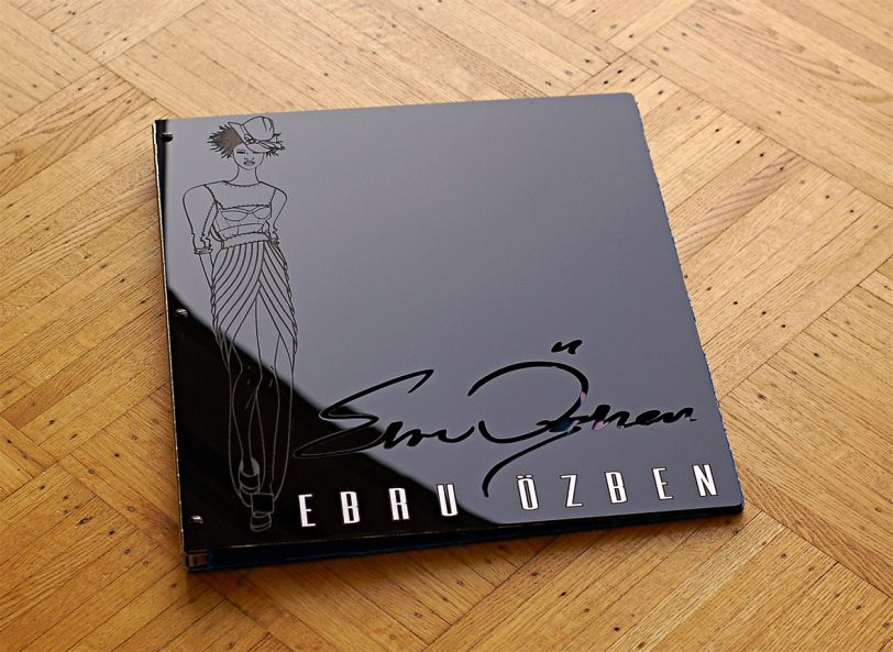 Custom Acrylic Fashion Design Portfolio Book - Pinterest