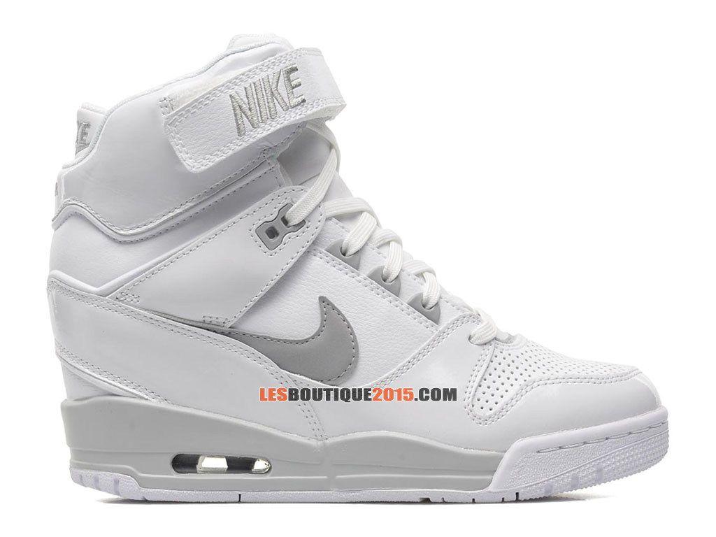 Nike Air Revolution Sky Hi GS Chaussure Montante Nike Pas Cher Pour Femme Blanc