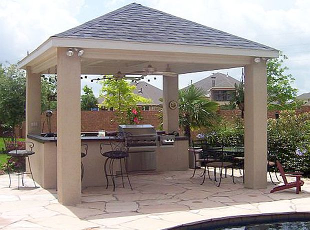Back Yard Built In Bbq Outdoor Living 01 Water And Fire Bbq Pits Are The Perfe Covered Outdoor Kitchens Outdoor Kitchen Design Layout Outdoor Kitchen Design