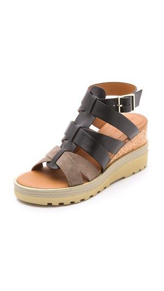 Pattie 130 velvet plateau sandals