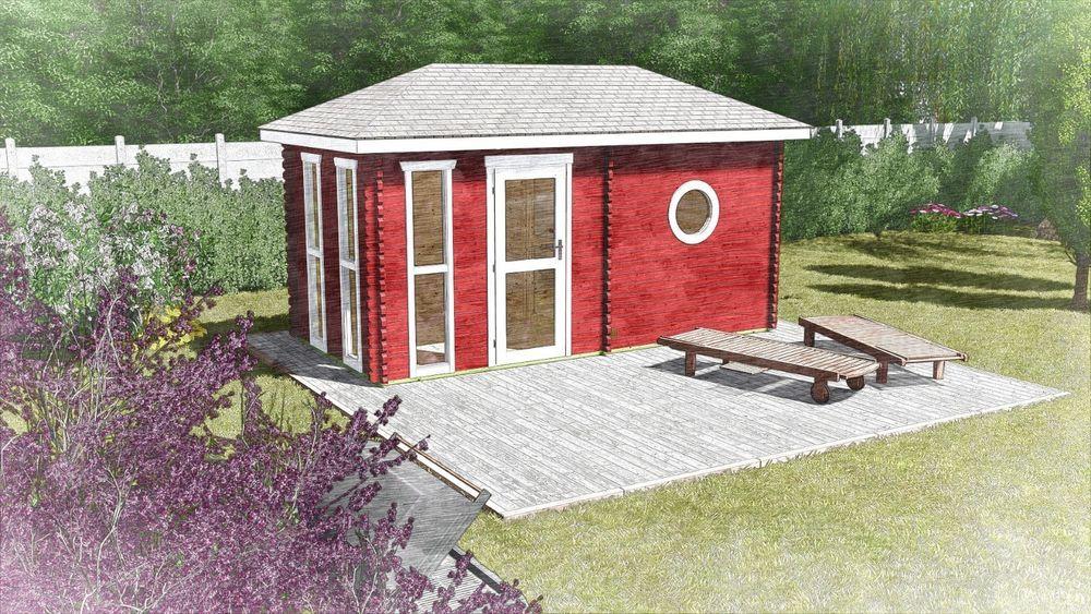 Saunahaus Aussensauna Gartensauna Blockbohlen Holz 4 8x2 4m 45mm Oldenburg 45004 Heimwerker Sauna Schwimmbecken Saunen Gartensauna Saunahaus Aussensauna