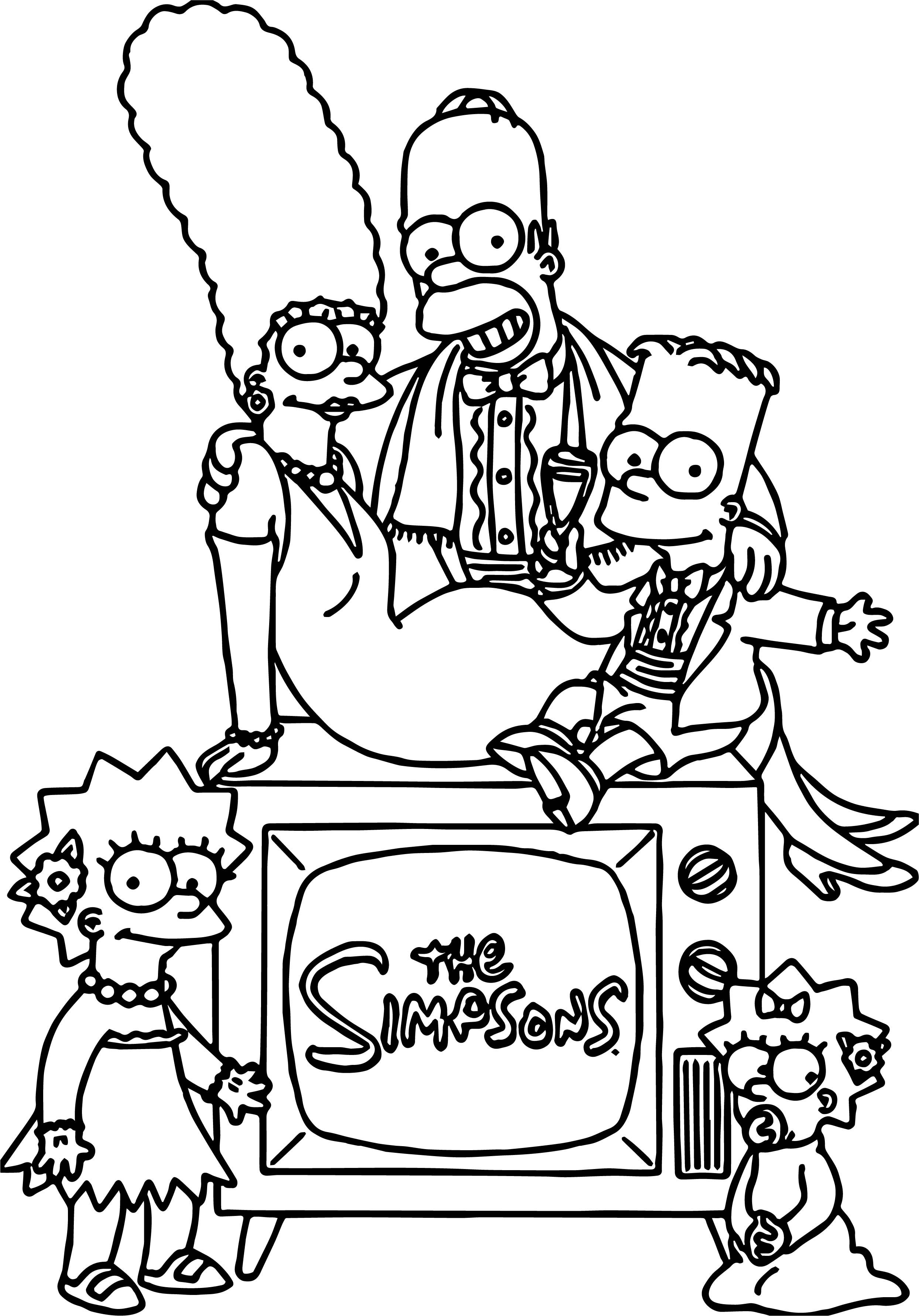 Awesome Simpsons Coloring Page Simpsons Drawings Family Coloring Pages Coloring Books