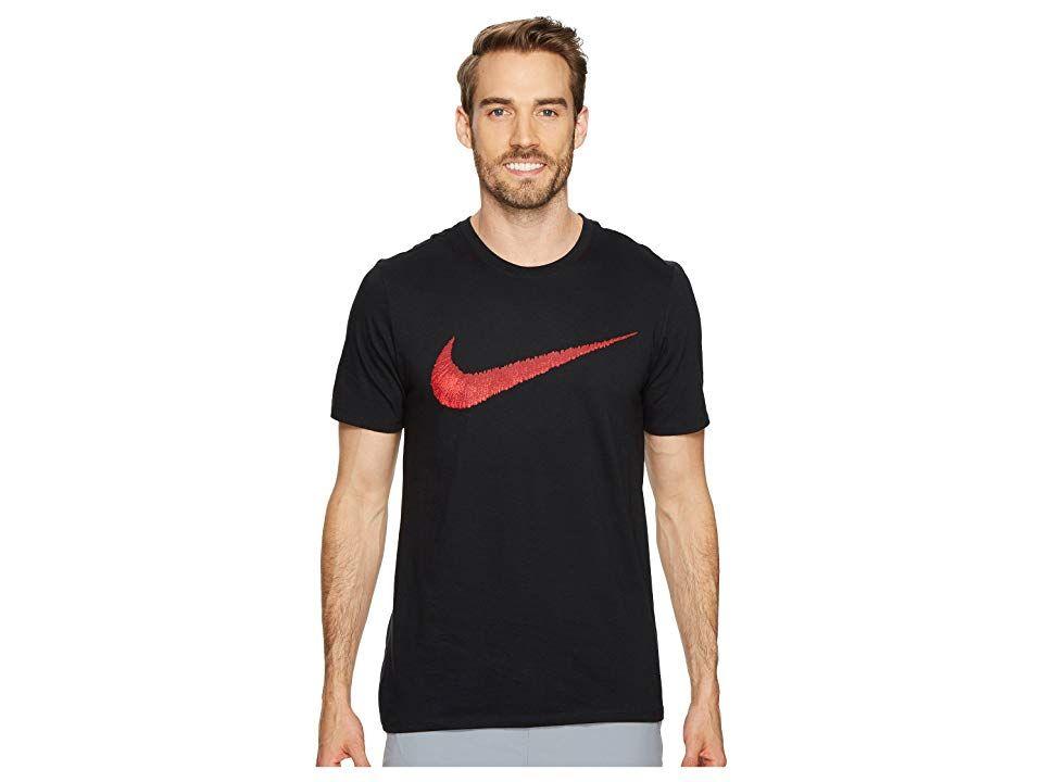 908214a2 Nike Hangtag Swoosh Tee (Black/Sport Red) Men's T Shirt. Hang with ...