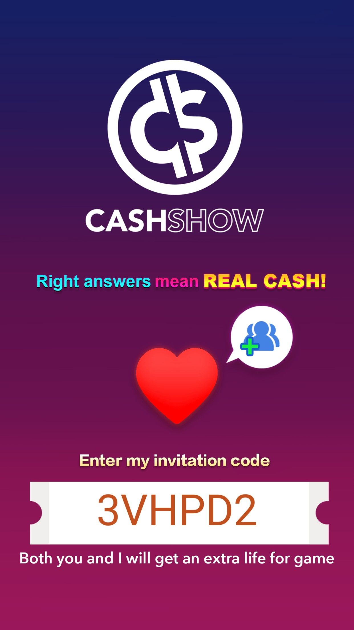 Make real cash! Free trivia app, fun and addictive. Just