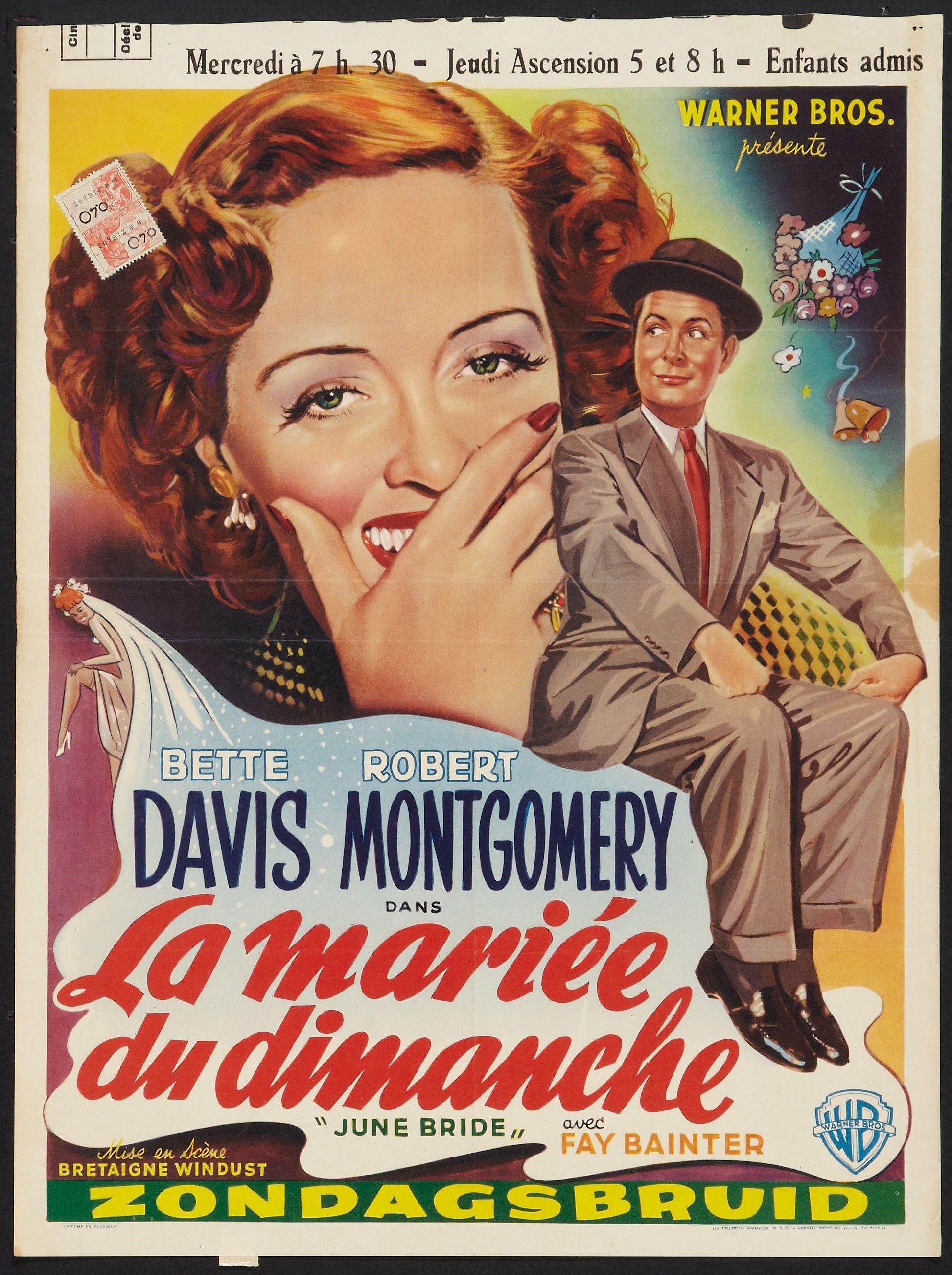 June bride Bette Davis Vintage movie poster