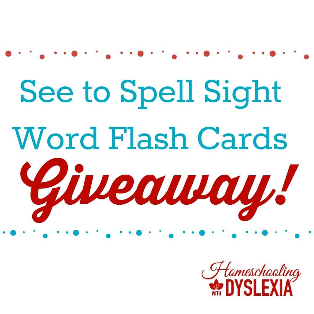 See To Spell Sight Word Flashcards Giveaway