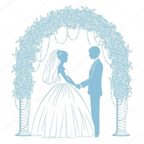 Картинки по запросу жених и невеста рисунок | Легкие ...