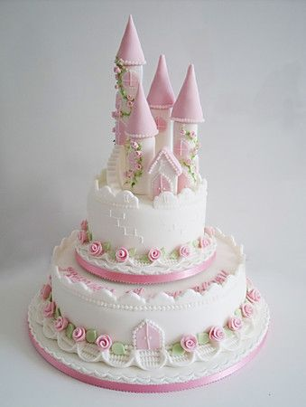 castle cakes fairy castle christening cake Recipes Pinterest