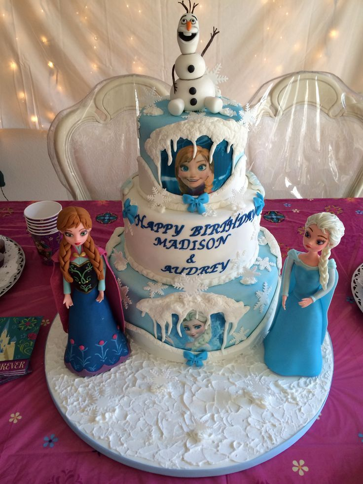 CakeBossFrozenCakes Disney Frozen Birthday cake The cake was