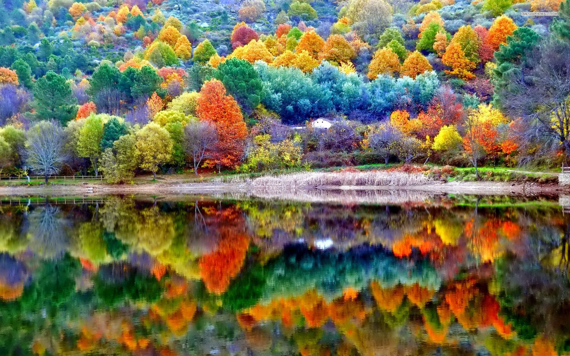 Fall Landscape Wallpaper | Beautiful autumn scenery wallpaper ...