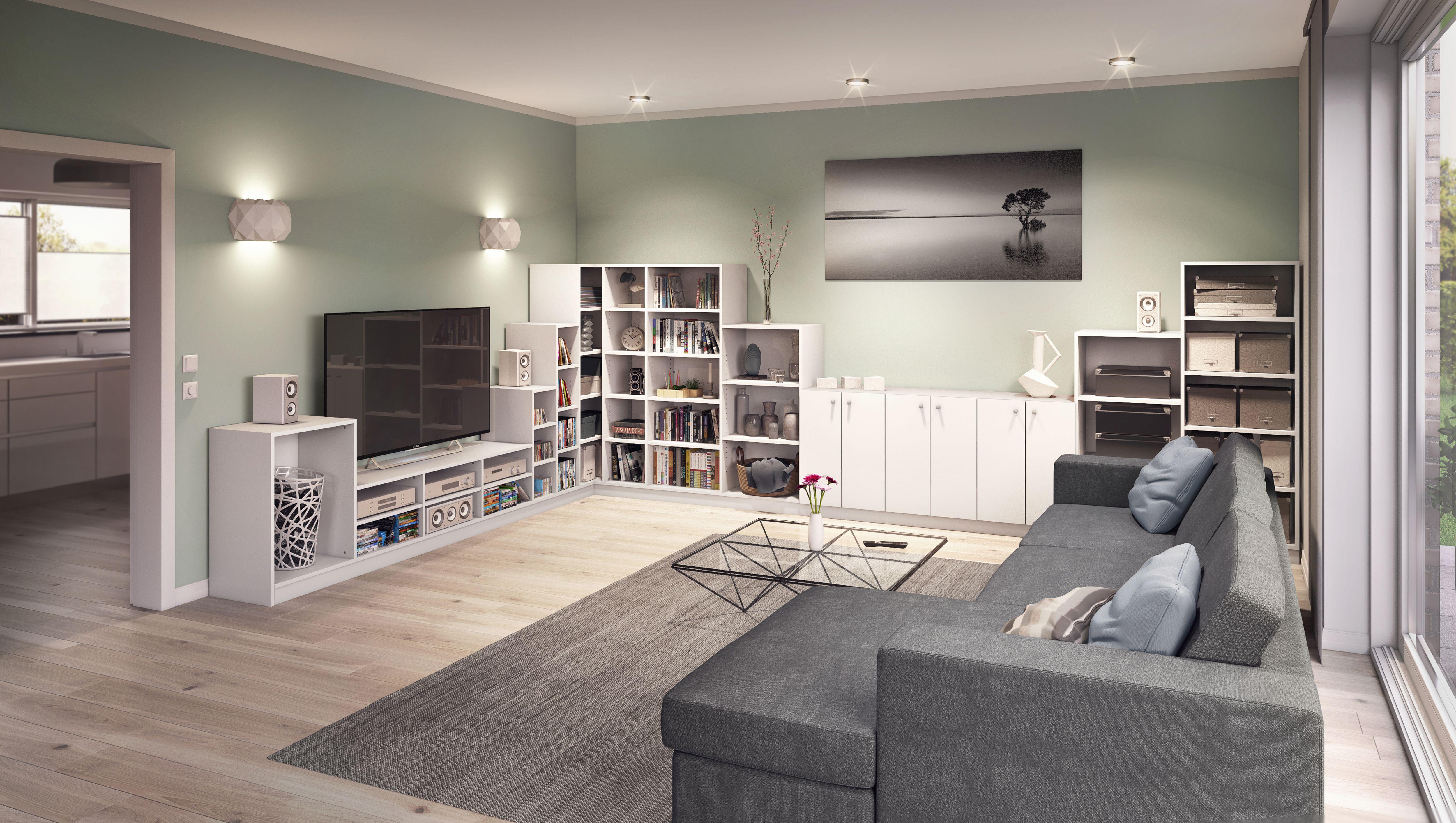 Elegant Im Wohnzimmer Darf Die Passende Wohnwand Nicht Fehlen. Du Kannst Diese  Genau Nach Deinen Vorstellungen