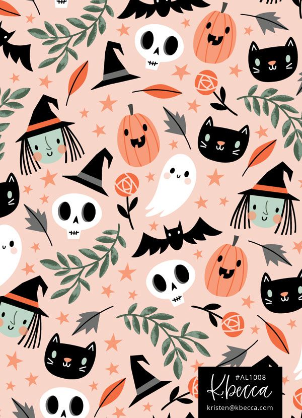 Halloween Pattern Wallpaper.Pin On Patterns And Prints