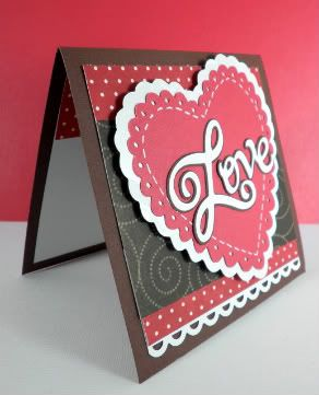 Obsessed with Scrapbooking Quick and Elegant Valentines Card