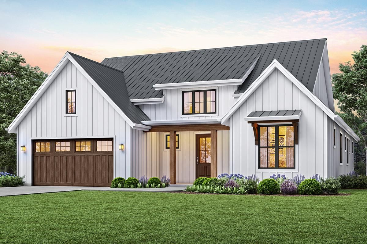 House Plan 255900815 Modern Farmhouse Plan 1,878