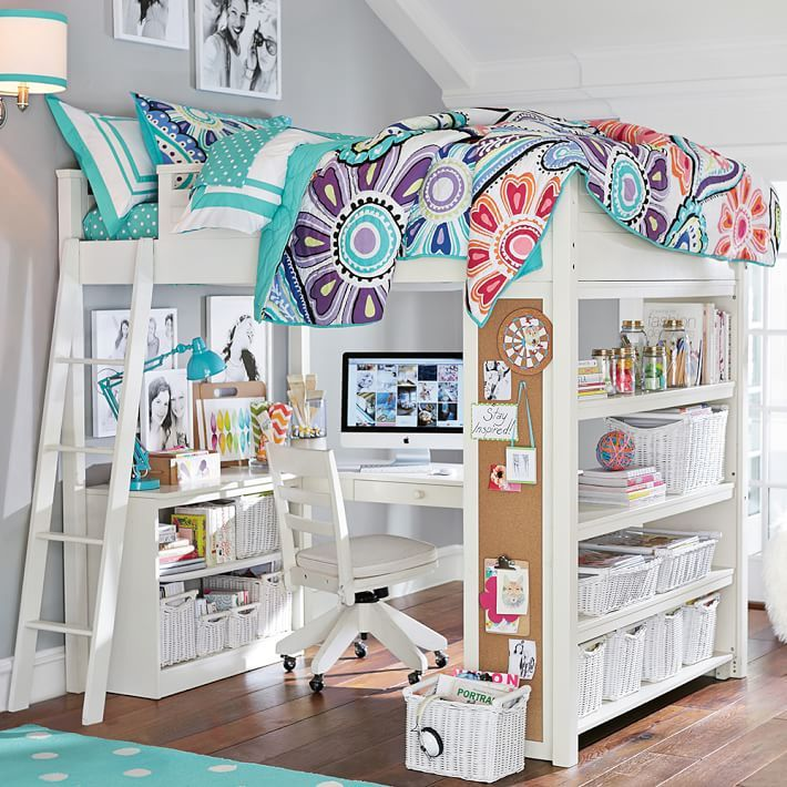 Sleep Study Loft Girls Loft Bed White Loft Bed Loft Bed