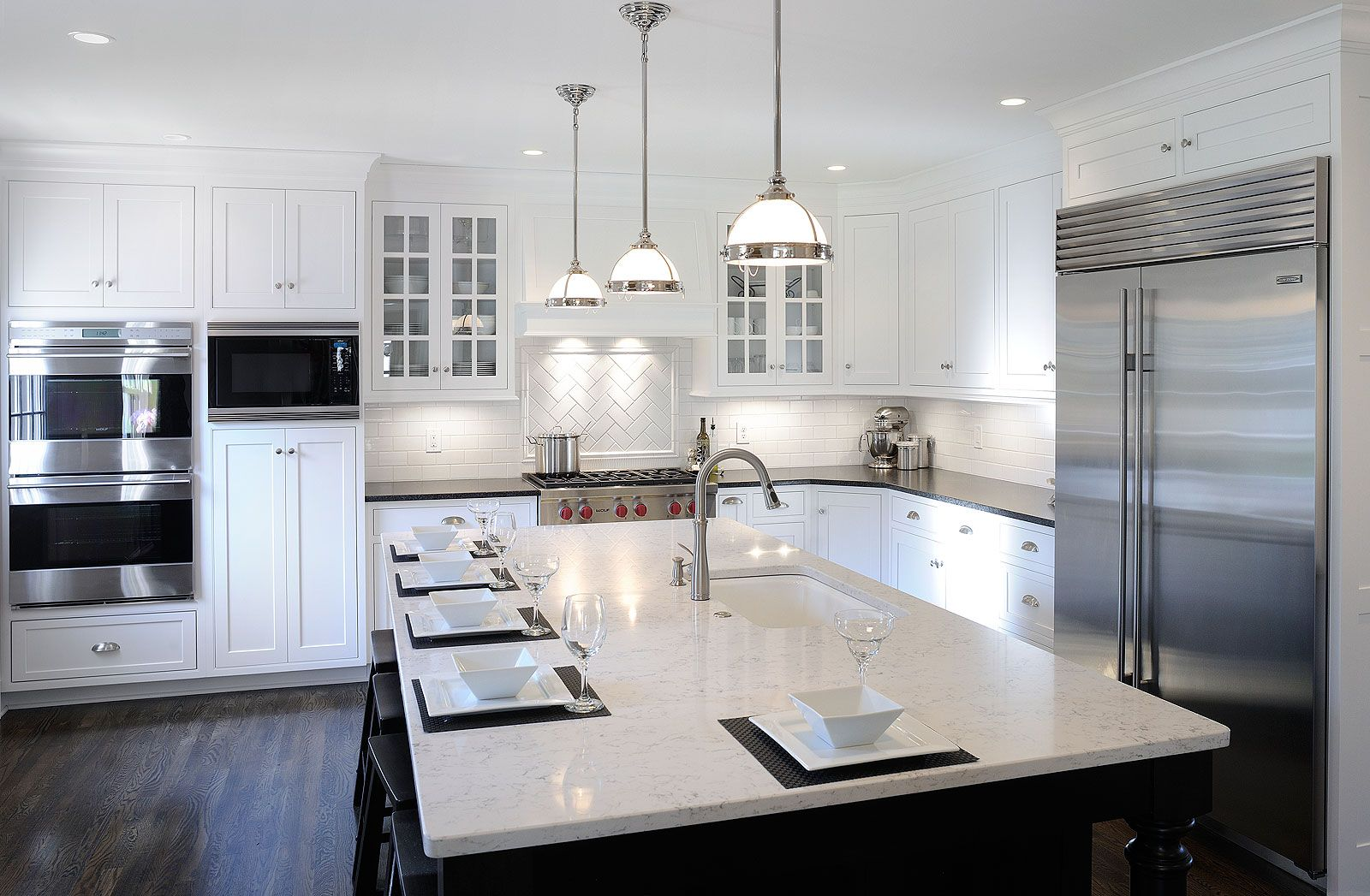 Kitchen Kitchen Design Black Kitchen Island Transitional Kitchen Design
