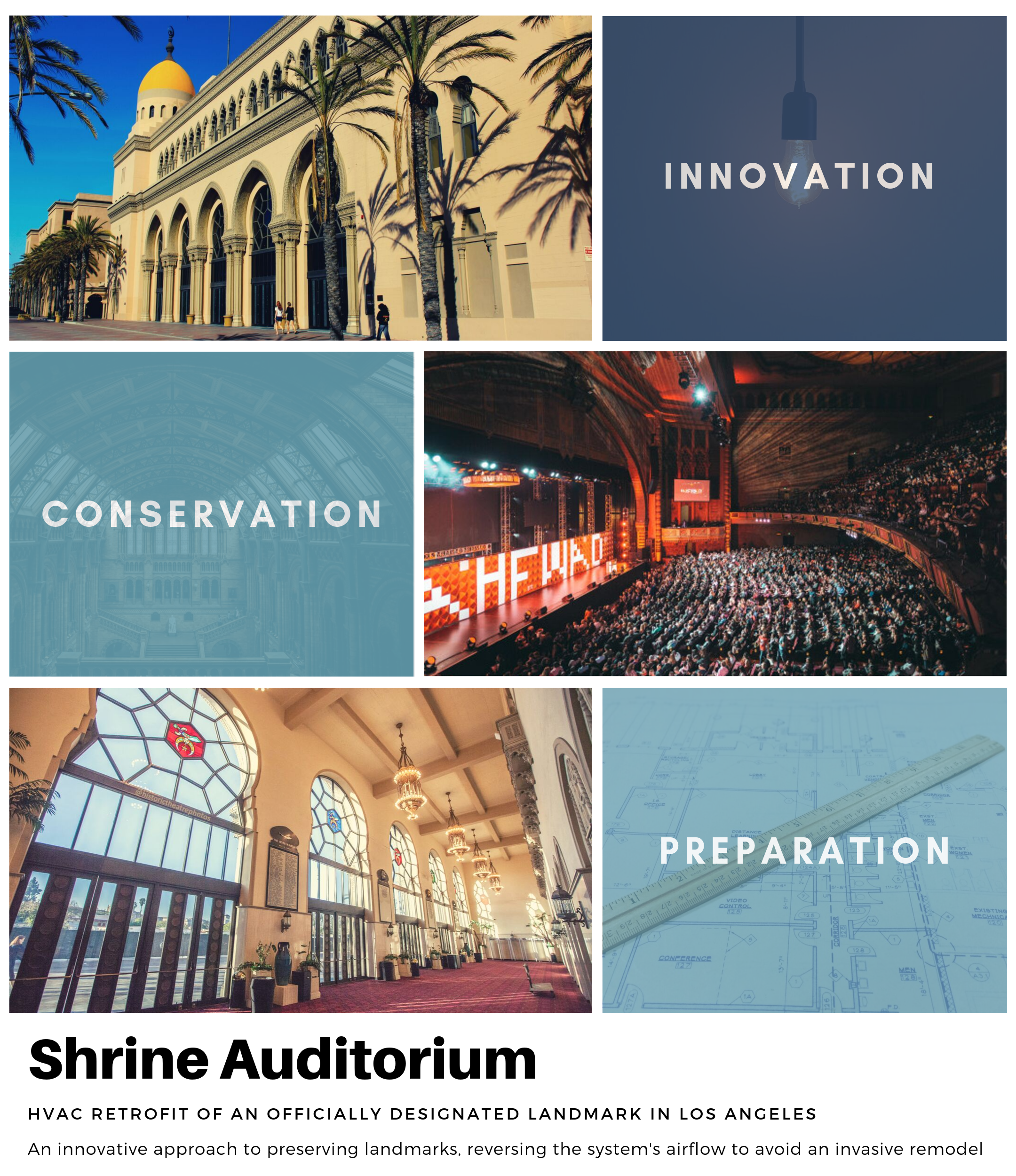 Shrine Auditorium Hvac System With Images Architecture Landmark System Architecture Hvac Design