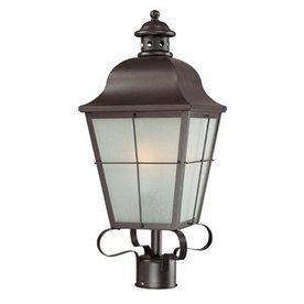 Volume International 22 In Antique Iron Pier Mounted Light