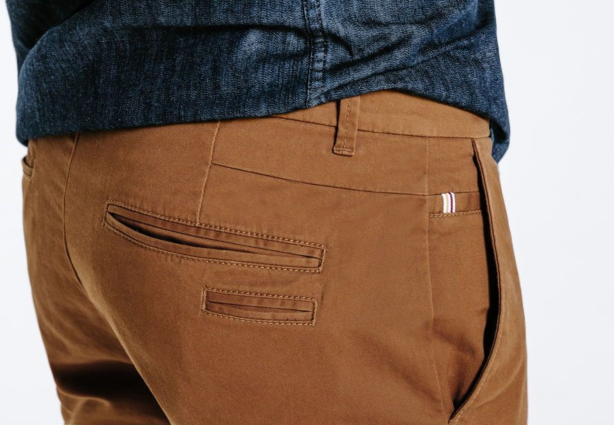 9ec8d6327eb4 Chino slim casual Camel Homme - Jules