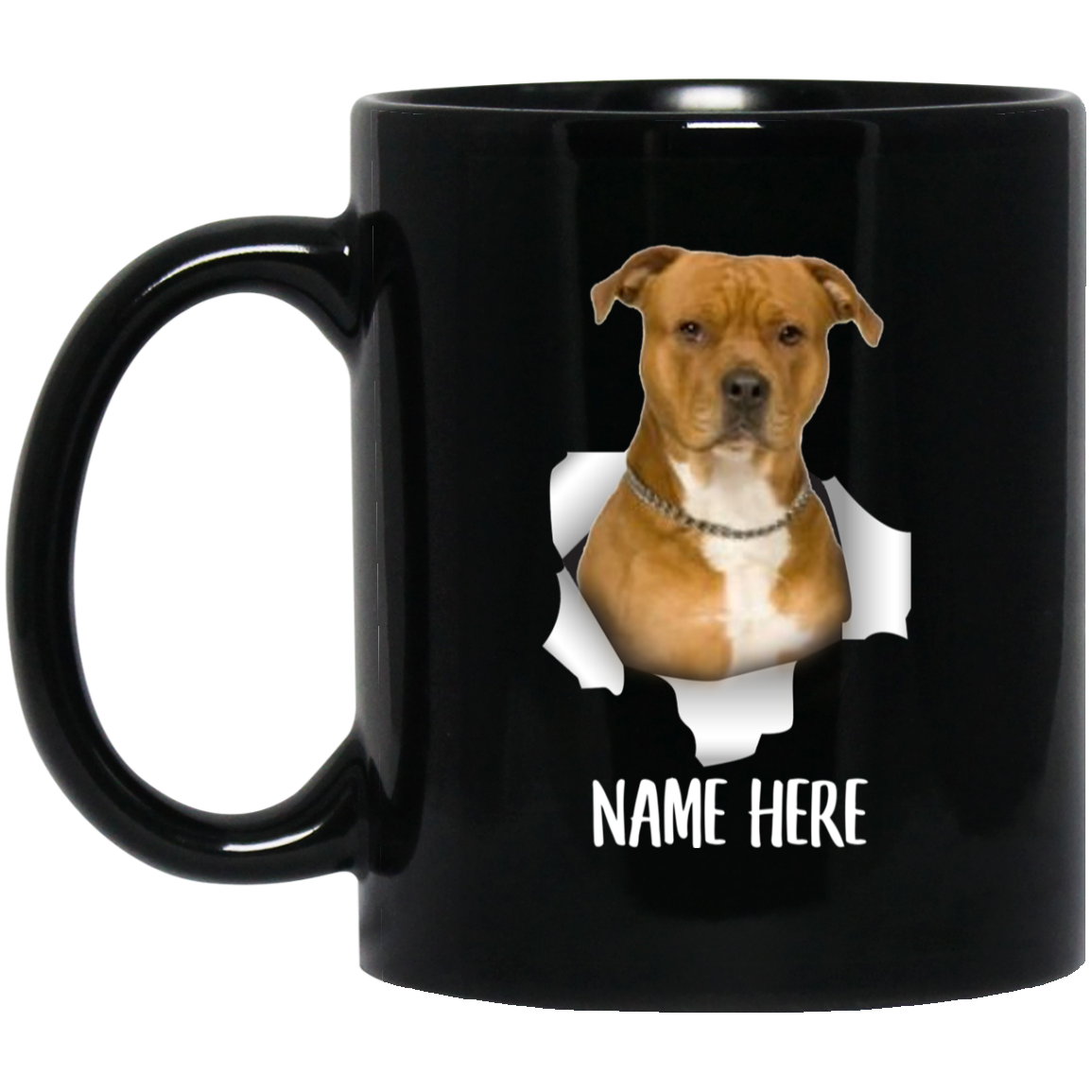 Funny Personalized American Bully Gold Custom Name Black