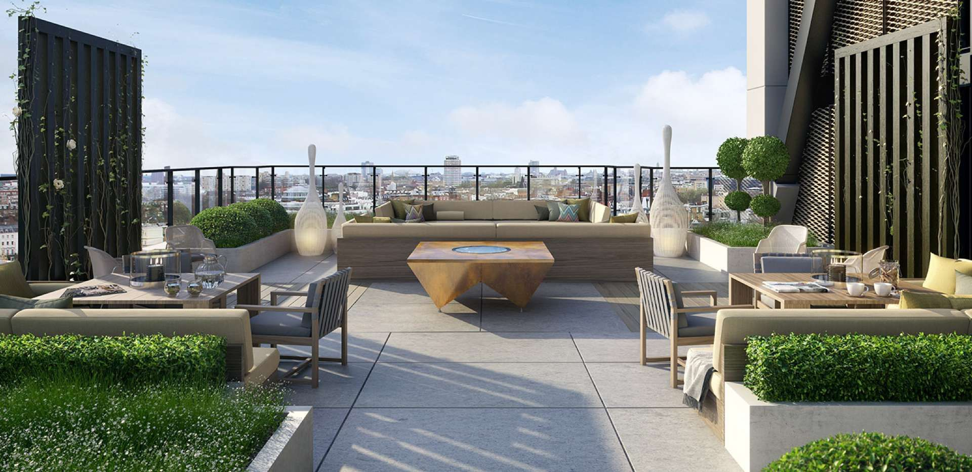 Chic contemporary luxury roof terrace st james merano for Rooftop bar and terrace