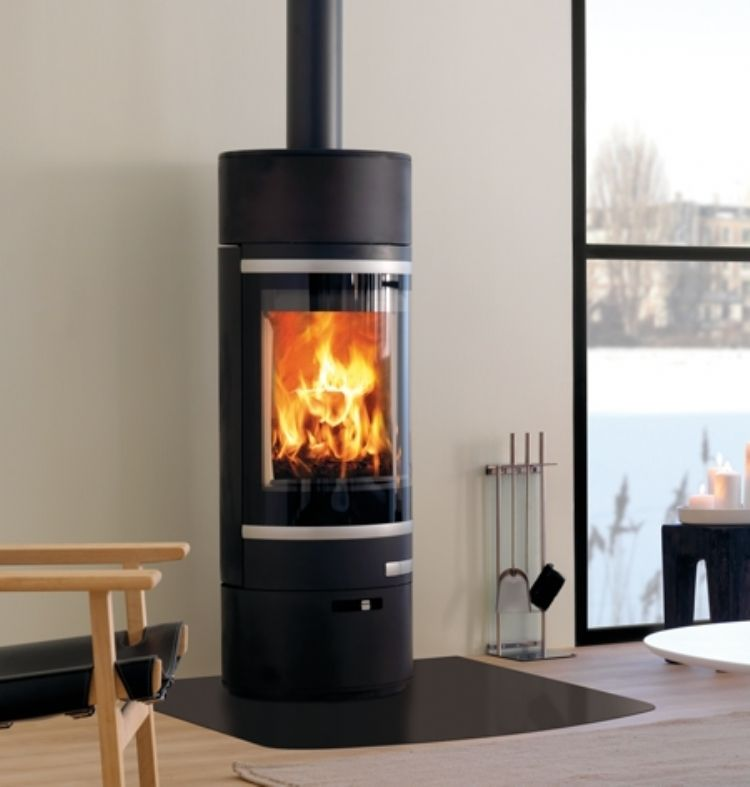Beautifully Designed Circular Woodburner On Display In Our Wadebridge Showroom