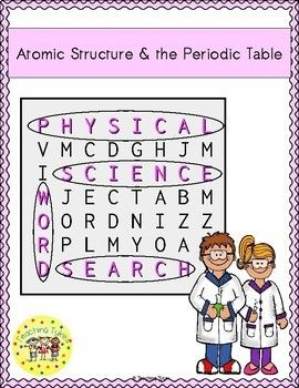 Atomic structure and periodic table word search physical science atomic structure and periodic table word search physical science vocabulary activities pinterest science vocabulary word search and periodic table urtaz Image collections