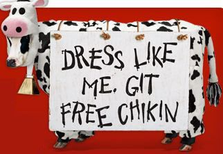 picture regarding Chick Fil a Printable Cow Costume named Absolutely free Chick-fil-A combo supper in addition free of charge printable cow dress