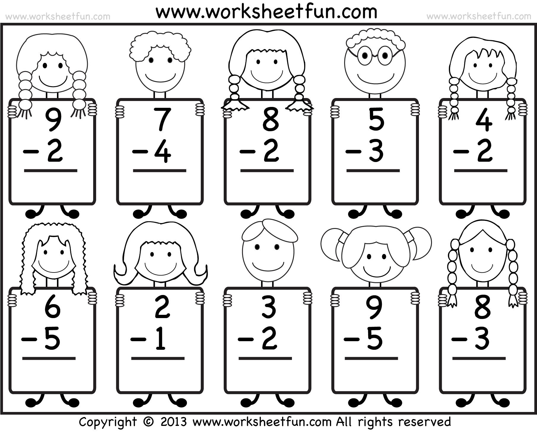 Beginner Free Printable Math Addition Worksheets For