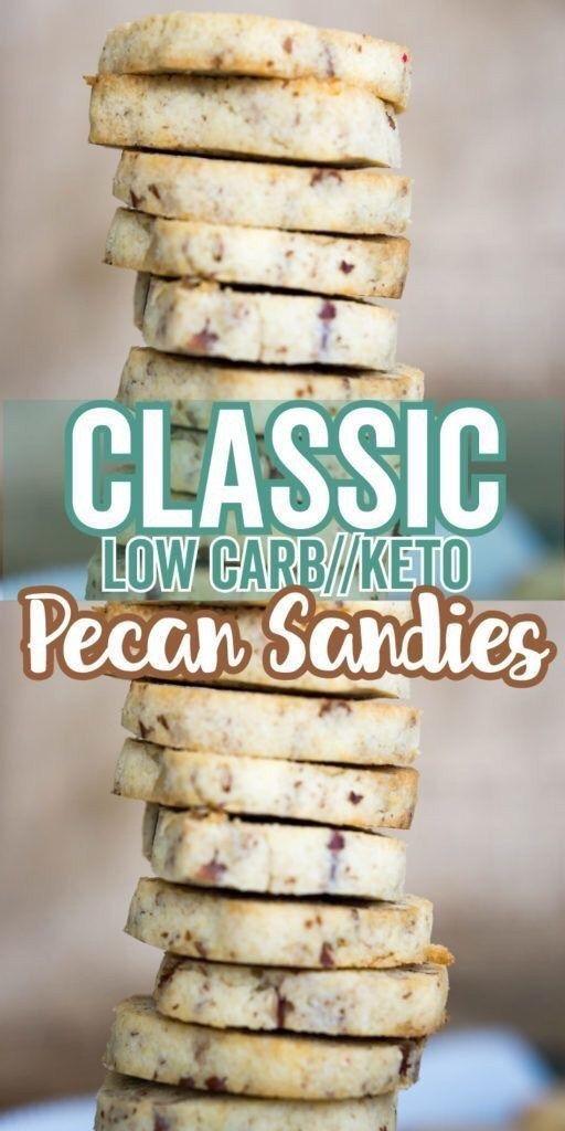 Keto Shortbread Cookies | Pecan Sandies #ketodesserts