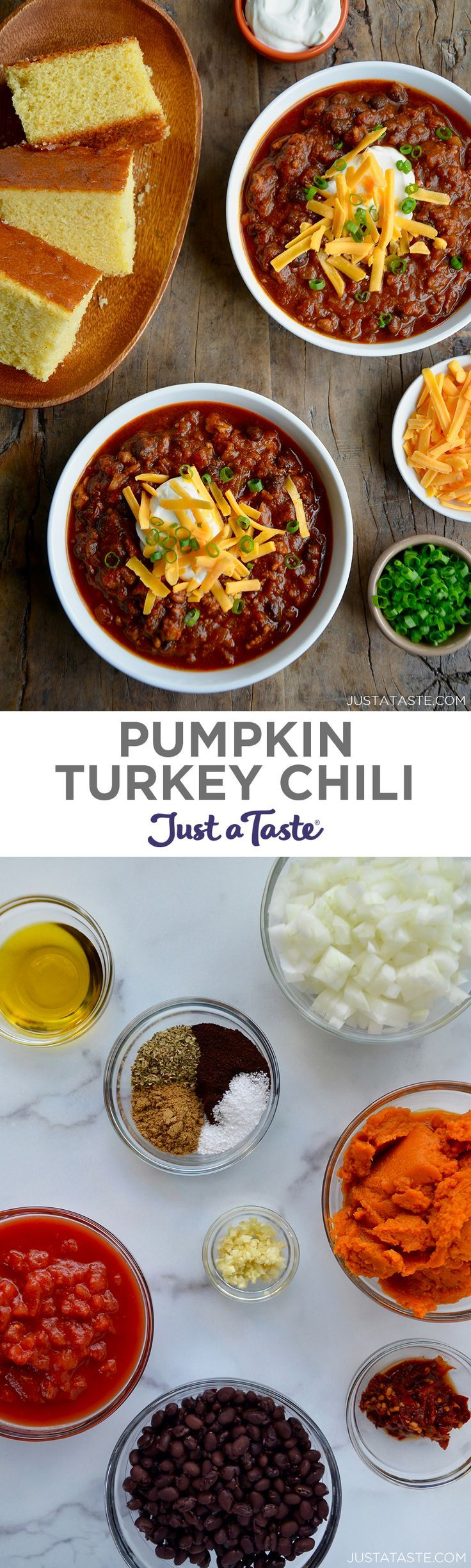 This easy Pumpkin Turkey Chili recipe is everything you ...