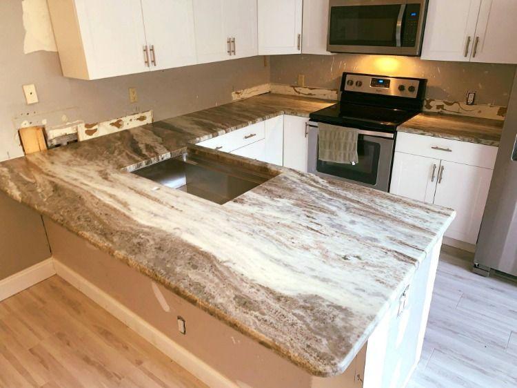 Ocean Beige Brushed Color Granite Kitchen countertops