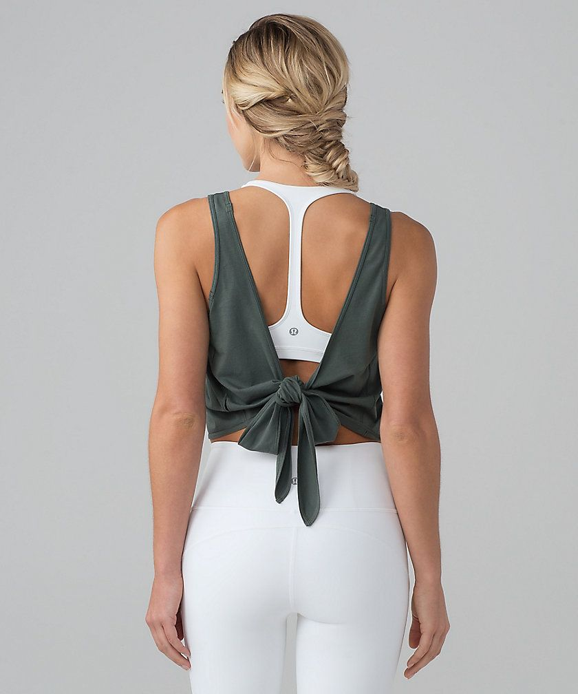 bd05c14bf32603 Tie back yoga tank by lululemon