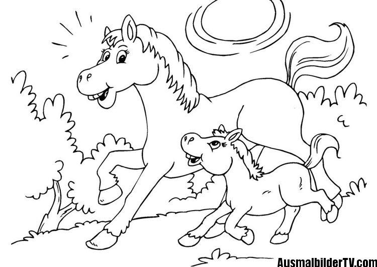 Ausmalbilder Pferde Mit Fohlen Ausmalbilder Pferde Malvorlagen Pferde Ausmalbilder