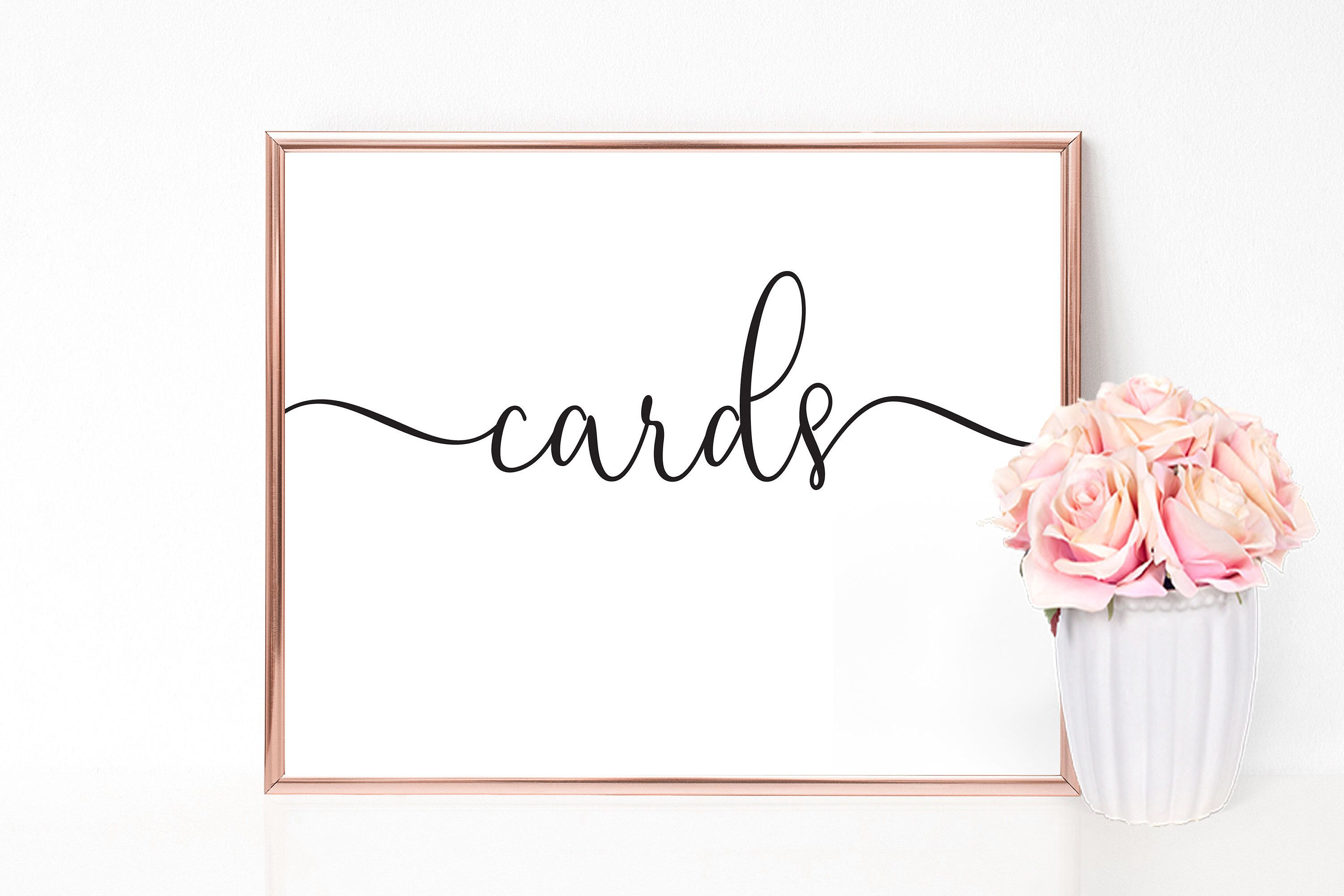 Cards Sign Wedding Sign Gift Table Sign Card Sign Card Box