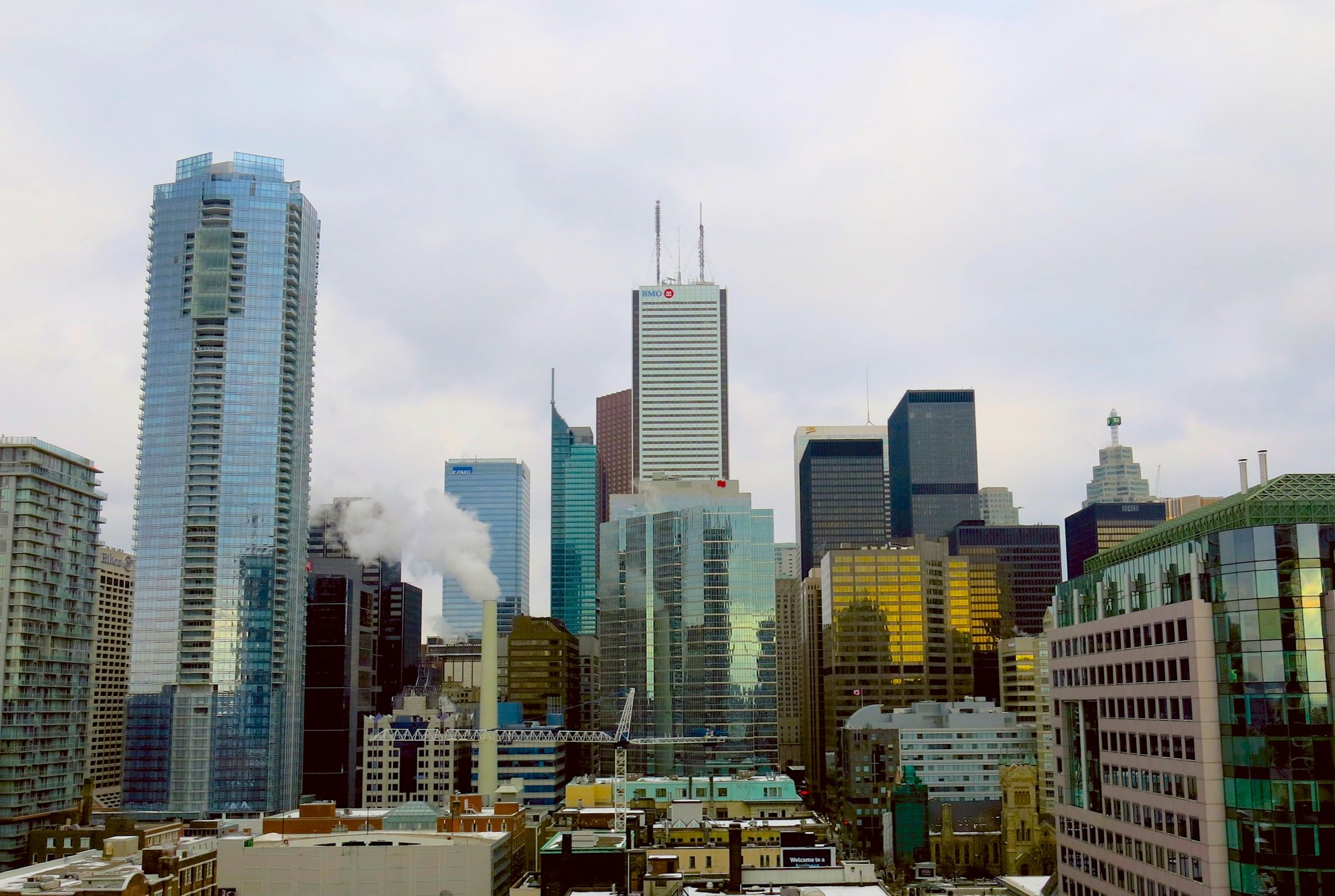 Toronto Seen From A Condo Building At John St King St W In The Entertainment District In Downtown Toronto