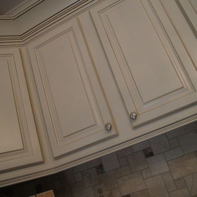 Triple Stacked Crown Molding And Under Cabinet Light Rail Molding