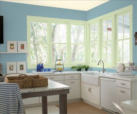 Bam Paints Kitchen Blue