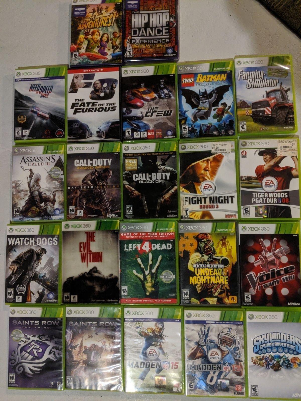 Xbox 360 Games Bundle Xbox 360 Games Xbox Xbox 360