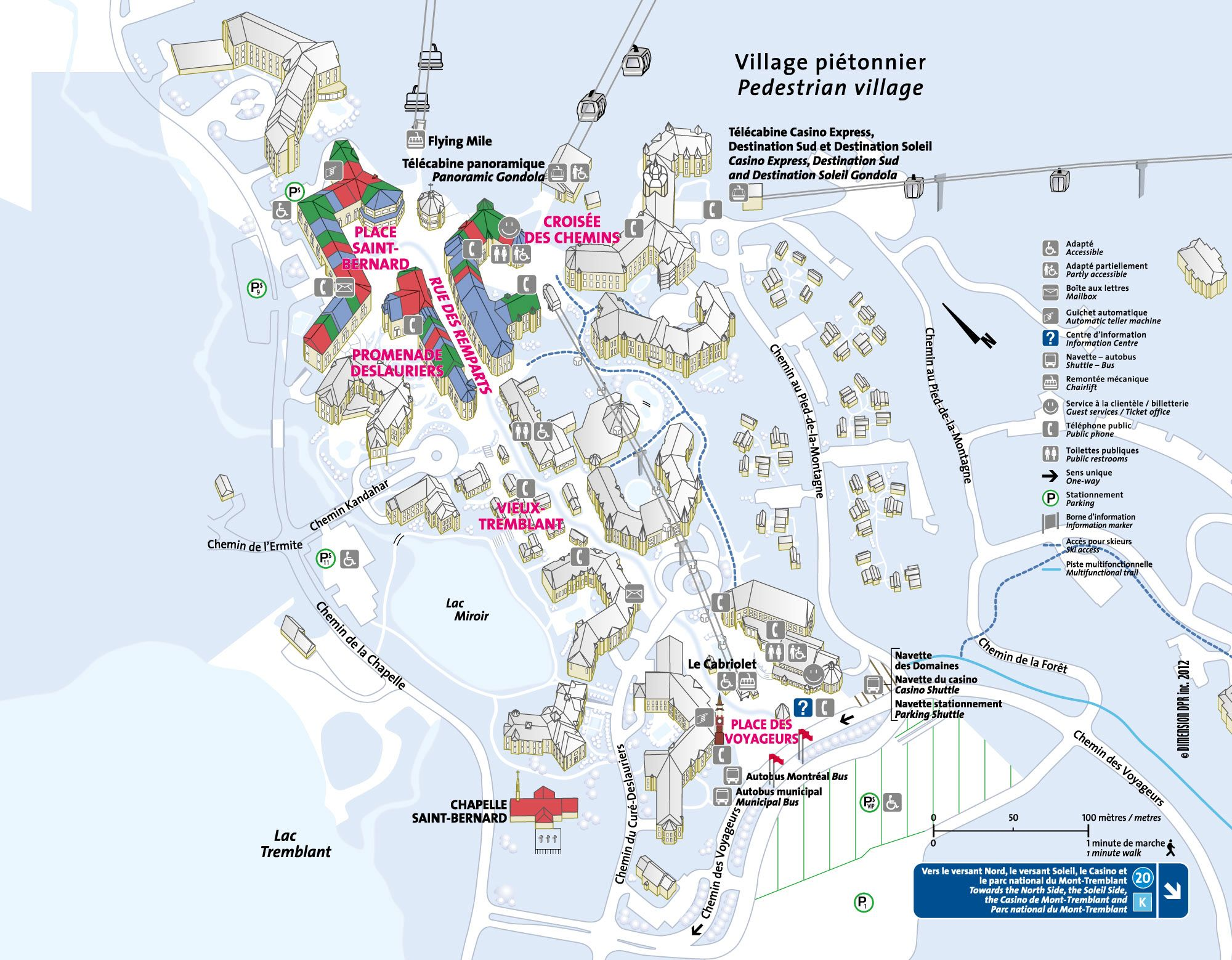 Mont Tremblant Village Map Pedestrian Village Map   Tremblant Resort   a friend says this is
