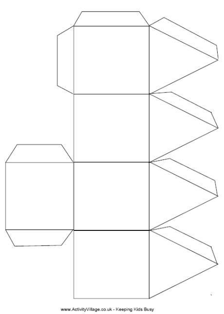3d dreidel template paper arts pinterest template
