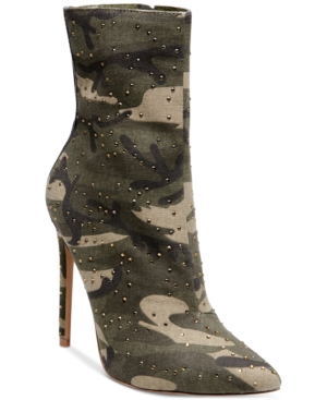 2bd98cc62a7 Steve Madden Wagu Pointed-Toe Booties - Camouflage 6M